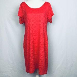 Isaac Mizrahi Ladies Pink Midi Dress Size XXL